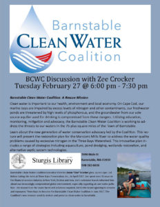 Barnstable Clean Water Coalition Discussion flyer