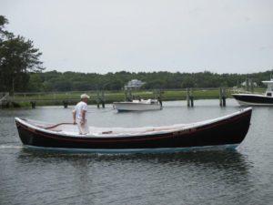 guy on a skiff