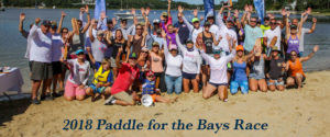 group photo of paddle racers
