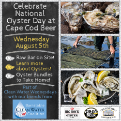 Celebrate National Oyster Day at Cape Cod Beer