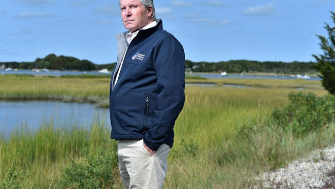 """Zenas Crocker, executive director of the Barnstable Clean Water Coalition, said he doesn't want the economy on Cape Cod to stop in its tracks, but wants it to move forward responsibly. """"We know where the problem comes from and for decades we have had an ostrich-like, head-in-the-sand approach to the problem,"""" he said. Steve Heaslip/Cape Cod Times"""